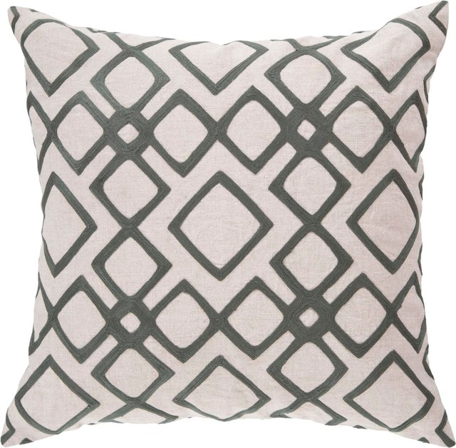 "Surya COM-017 18"" x 18"" Down Feathers Pillow Kit contemporary-decorative-pillows"