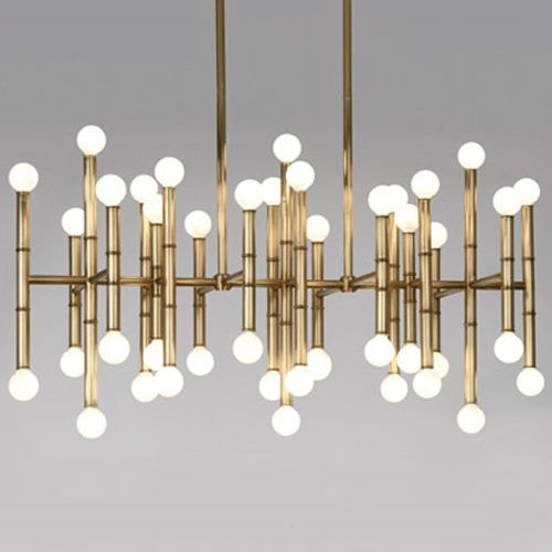 Meurice Rectangular Chandelier By Jonathan Adler Lighting