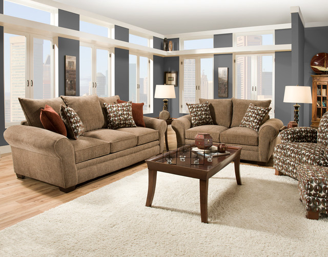 Ginger Snap Living Room Set contemporary-living-room