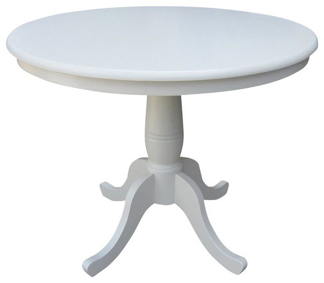 international concepts 36 quot round dining table in linen