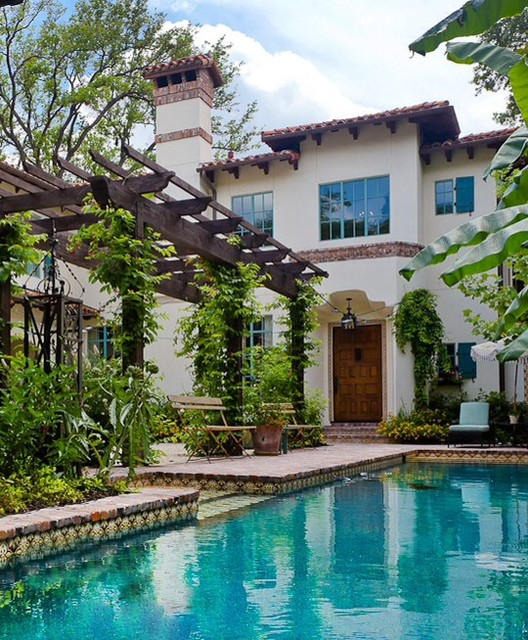 River oaks custom home houston texas mediterranean for Garden oaks pool houston