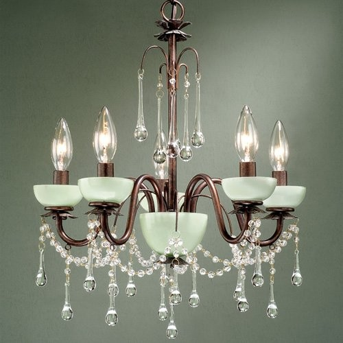 Laura Ashley MAME0566 Aimee 5-Light Mini Chandelier - 16.5W in. - Traditional - Chandeliers - by ...