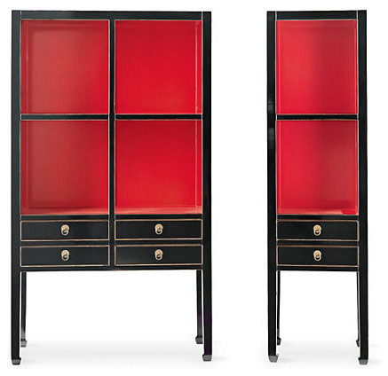 Red Crawford Cabinets - Asian - Accent Chests And Cabinets ...