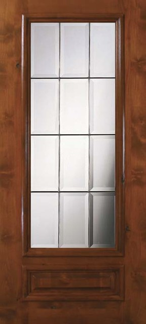 Slab french single door 80 wood alder french 1 panel 3 4 for All glass french doors