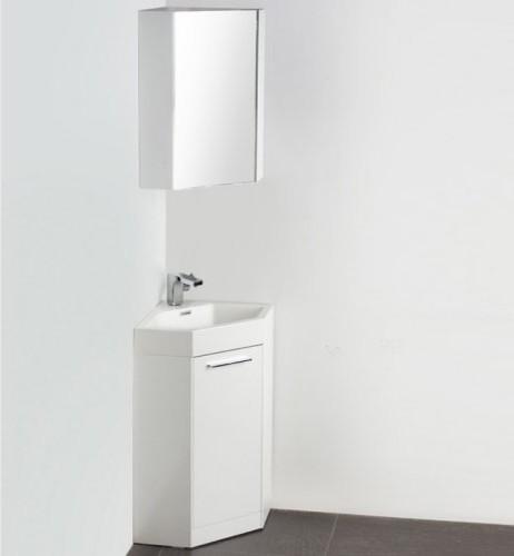 Fresca Coda 18-in. White Modern Single Corner Bathroom Vanity & Medicine Cab contemporary-bathroom-vanities-and-sink-consoles