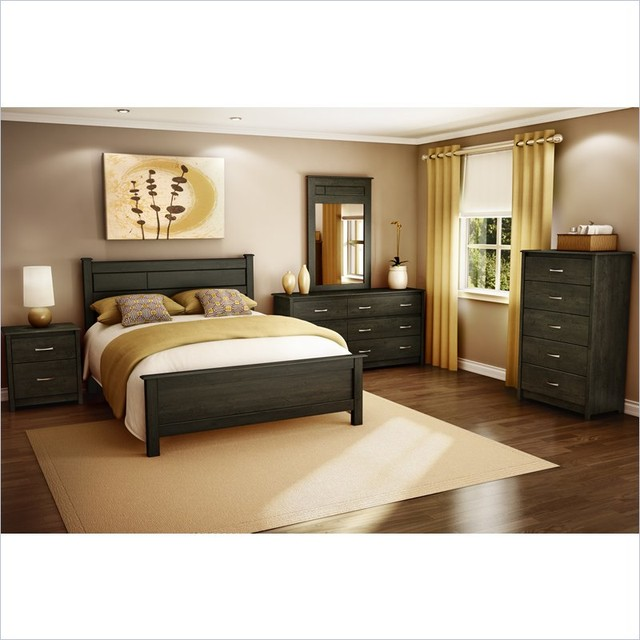 pc bedroom set in ebony contemporary bedroom furniture sets new