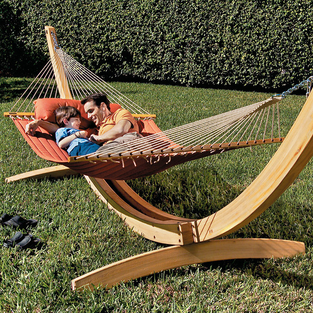 Backyard Hammock Stand :  Hammock Stand, Patio Furniture  Traditional  Hammock Stands And