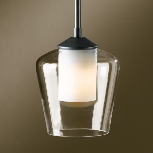 Simple Adjustable Pendant with Double Glass contemporary pendant lighting