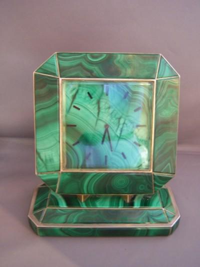 Fabulous Art Deco Malachite Clock traditional-clocks