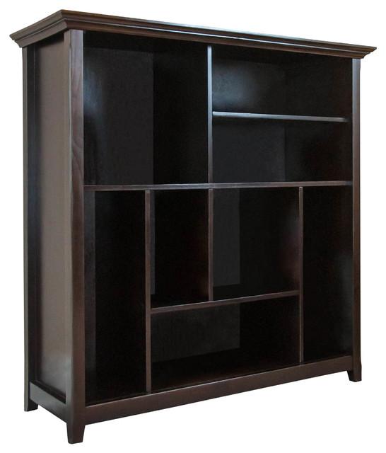 Amherst 44 inch wide x 44 inch high Multi-Cube Bookcase & Storage Unit in Dark A - Contemporary ...