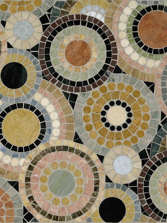 "Beaded Kaleidoscope 12"" x 16"" - Appomattox Tile Art Company"