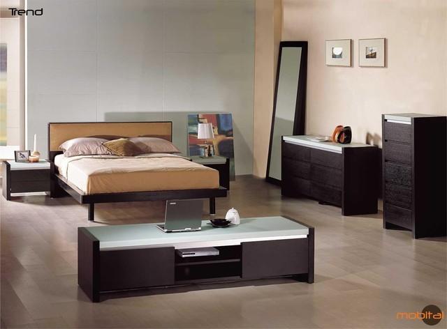 Mobital Furniture Modern Oak Wenge Bedroom Set Mobi Trend I Contemporary Bedroom