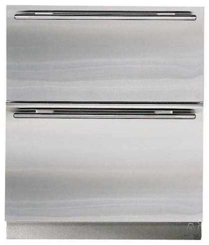 "Subzero 27"" Built-in Double Drawer Refrigerator contemporary-refrigerators"