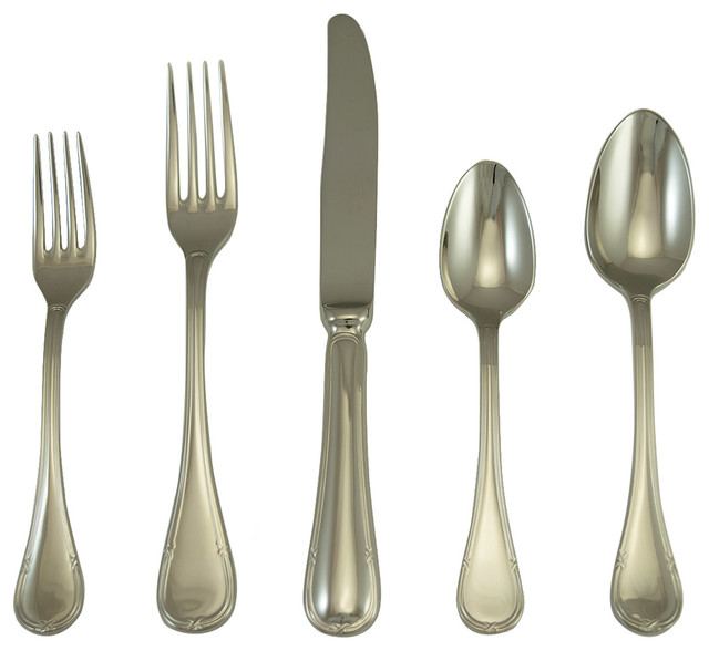 Vendome Place Setting Set Of 5 Modern Flatware And