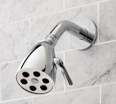 6-Jet Shower Head, Satin Nickel finish traditional-showerheads-and-body-sprays