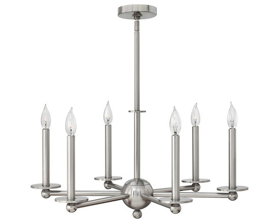 Hinkley Piedmont 6-Light Chandelier - Experience the renowned style of Hinkley Lighting, combining sophistication and impeccable quality.