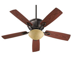 "Arts and Crafts - Mission 52"" Quorum Stanton Sienna Patio Ceiling Fan with traditional ceiling fans"