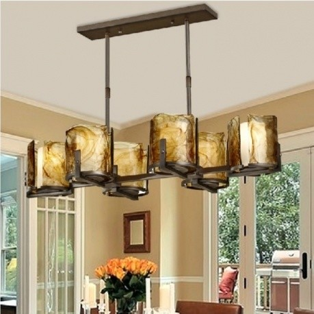 JollyHome Traditional Drum Shade Pendant Light Fixture for Restaurant modern-pendant-lighting