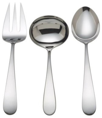 Reed and Barton Corp Pomfret 3-Piece Serving Set modern-serving-utensils