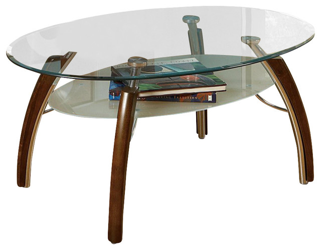 Steve Silver Atlantis 48x32 Cocktail Table In Cherry Contemporary Coffee Tables By