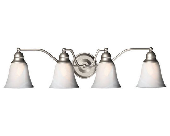 Brushed Nickel 4 Light Etic Bathroom Bar Wall Sconce -