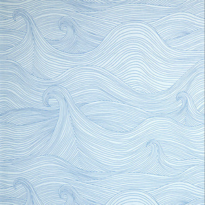 Blue Pattern Wallpaper contemporary-wallpaper