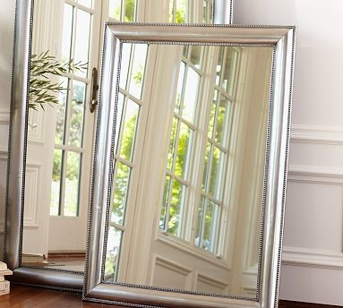 silver beaded mirror 30 x 42 traditional mirrors by pottery barn. Black Bedroom Furniture Sets. Home Design Ideas