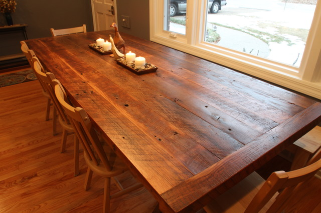 Reclaimed Barnwood Dining Table The Hermitage Pinterest