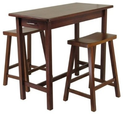 kitchen island table set of 3 transitional indoor pub