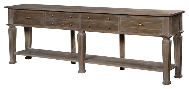 Hotel 6 Drawer Console Table traditional-side-tables-and-end-tables