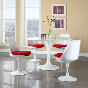 Lippa 5 Piece Dining Set in Red modern-dining-tables
