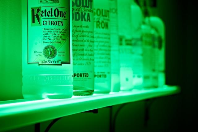 Wall Mounted Back Bar Liquor Bottle Shelving - Eclectic ...