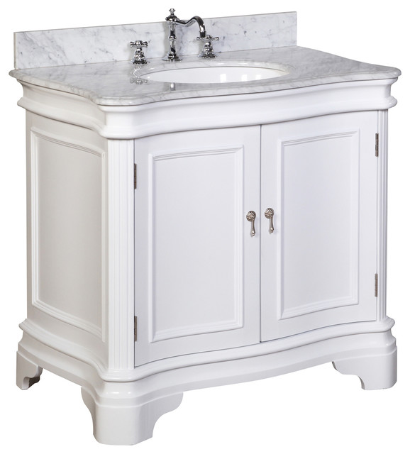 Katherine 36 In Bath Vanity Carrara White Traditional Bathroom Vanities