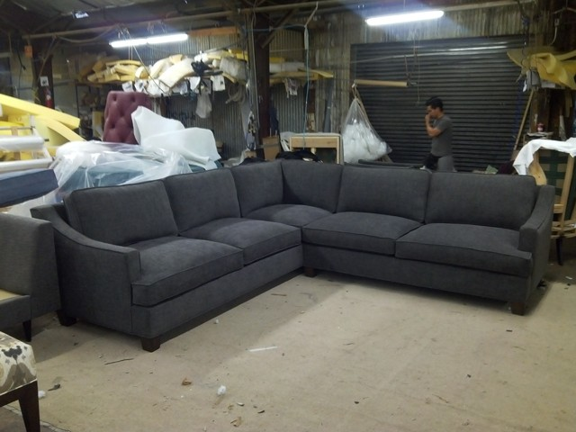 Slope Arm Sectional in Grey - eclectic - sectional sofas - dallas
