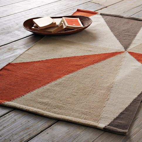 Kaleidoscope Dhurrie modern rugs
