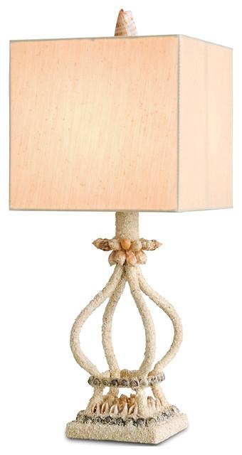 svannah coastal style sand shell table lamp transitional