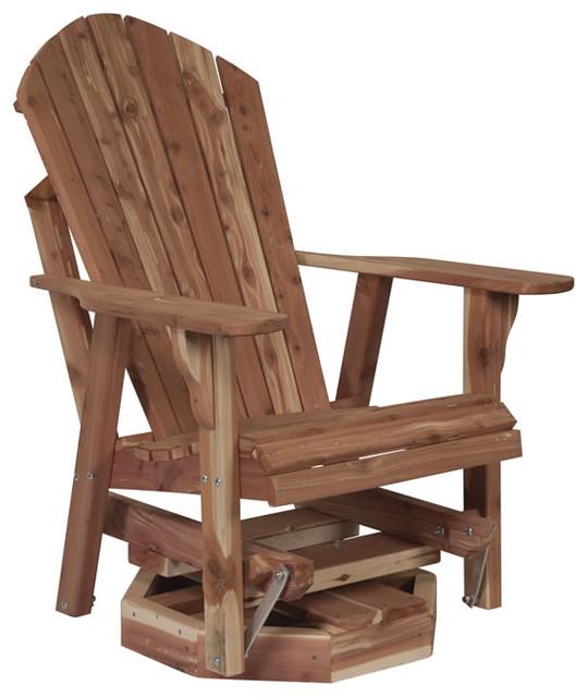 Cedar Adirondack Swivel Glider traditional-rocking-chairs