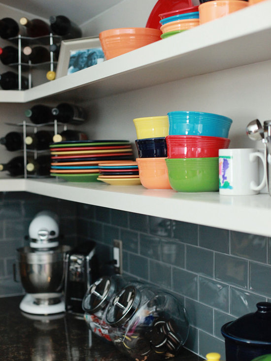Clean Cut Dover Kitchen - The Open shelving adds a liberating Dynamic.