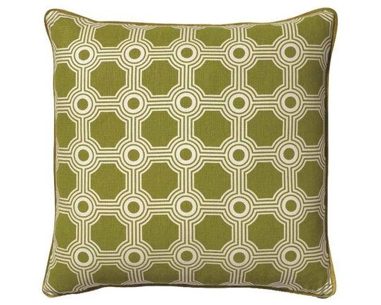 Galloway Trellis Green Tea Pillow -