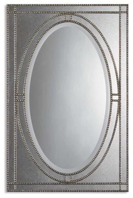 Uttermost Earnestine Antique Silver Mirror 08055 B contemporary-wall-mirrors