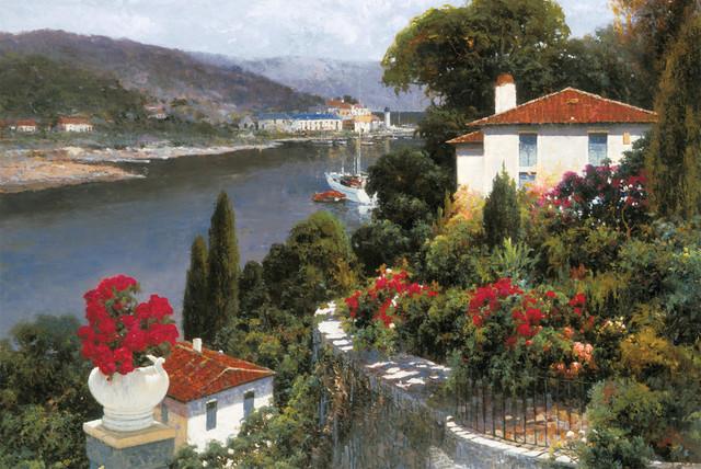 Harbor View mediterranean-artwork