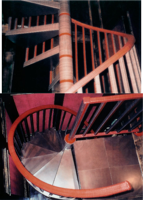 Spiral Leather Staircase modern