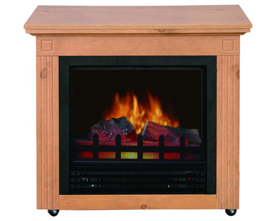 """Cambria Electric Mobile Fireplace - Dimensions: 23.23""""H x 25""""W x 12""""D"""