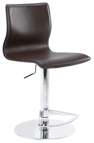 Weston Adjustable Bar Stool in Brown modern-bar-stools-and-counter-stools