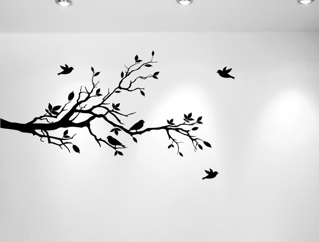 Tree Branches Wall Decal Love Birds Vinyl Sticker Nursery