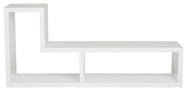Mervin Media Stand-White contemporary-media-storage