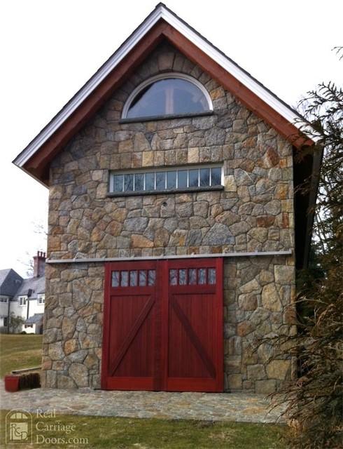 Mahogany sliding barn doors garage doors and openers for Sliding carriage doors