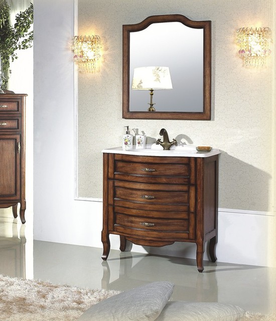 Calvario antique style single sink vanity 31 2 - Antique traditional bathroom vanities design ...