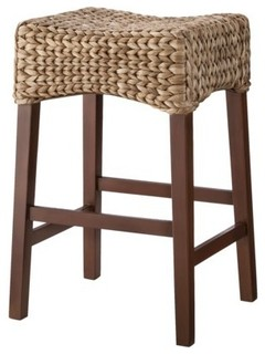 Andres Saddle Bar Stool, Brown - Beach Style - Bar Stools And Counter Stools - by Target