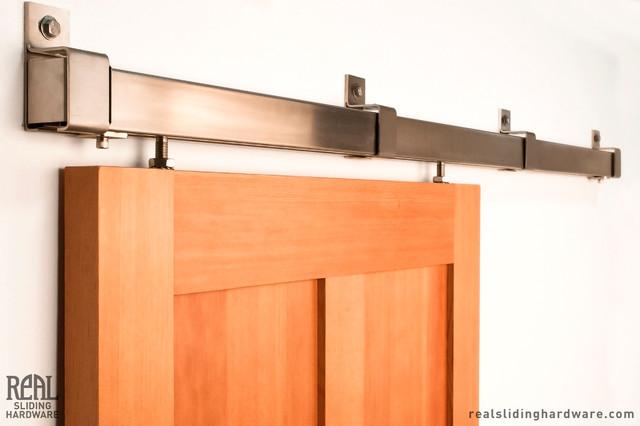 Box Rail Barn Door Hardware - Modern - other metro - by Real Sliding Hardware